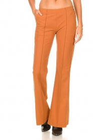 D-ETOILES CASIOPE |  Travelwear flair trousers Rodez | camel  | Picture 4