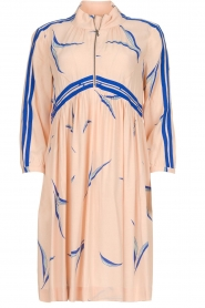 ba&sh |  Printed dress with zipper detail Tilda | nude  | Picture 1