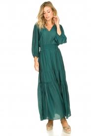 Dante 6 | Maxi-jurk met ruches Marais | groen  | Afbeelding 3