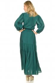 Dante 6 | Maxi-jurk met ruches Marais | groen  | Afbeelding 5