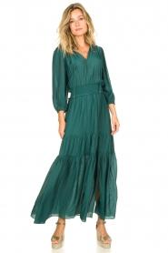 Dante 6 | Maxi-jurk met ruches Marais | groen  | Afbeelding 2
