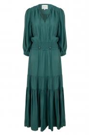 Dante 6 | Maxi-jurk met ruches Marais | groen  | Afbeelding 1