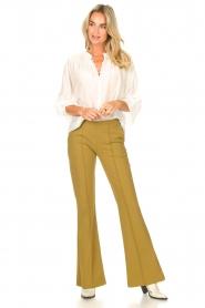 D-ETOILES CASIOPE | Travelwear flared broek Rodez | groen  | Afbeelding 2