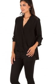 Wrap top Hailina | black