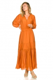 Dante 6 |  Maxi dress with ruffles Marais | orange  | Picture 3