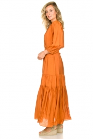 Dante 6 |  Maxi dress with ruffles Marais | orange  | Picture 5