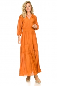 Dante 6 |  Maxi dress with ruffles Marais | orange  | Picture 2