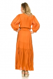 Dante 6 |  Maxi dress with ruffles Marais | orange  | Picture 6