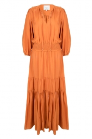 Dante 6 |  Maxi dress with ruffles Marais | orange  | Picture 1