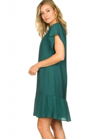 Dante 6 |  Dress with puff sleeves River | green  | Picture 6