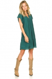 Dante 6 |  Dress with puff sleeves River | green  | Picture 3