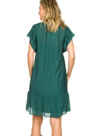Dante 6 |  Dress with puff sleeves River | green  | Picture 7