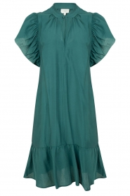 Dante 6 |  Dress with puff sleeves River | green  | Picture 1