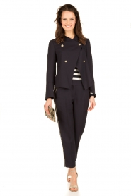 Tara Jarmon |  Cropped trousers Martine | dark blue  | Picture 3