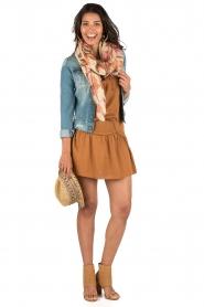 IKKS | Lace-up jurk Caro | camel  | Afbeelding 3