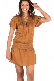 IKKS | Lace-up jurk Caro | camel  | Afbeelding 2