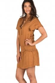 IKKS | Lace-up jurk Caro | camel  | Afbeelding 4