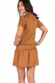 IKKS | Lace-up jurk Caro | camel  | Afbeelding 5