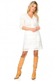 Dante 6 | Ajour jurk Paltrow | wit  | Afbeelding 3