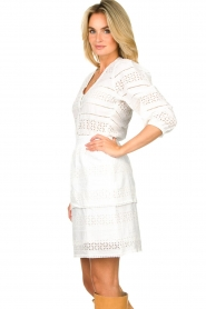 Dante 6 | Ajour jurk Paltrow | wit  | Afbeelding 5