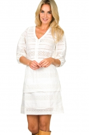 Dante 6 |  Ajour dress Paltrow | white  | Picture 4