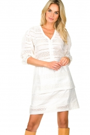 Dante 6 | Ajour jurk Paltrow | wit  | Afbeelding 2