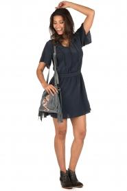 IKKS | Zijden jurk Charlot | blauw  | Afbeelding 3