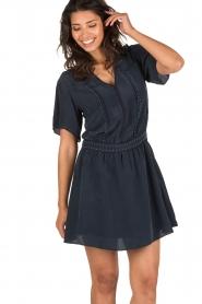 IKKS | Zijden jurk Charlot | blauw  | Afbeelding 6