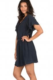 IKKS | Zijden jurk Charlot | blauw  | Afbeelding 4