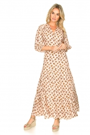 Dante 6 |  Printed maxi dress Poetic | brown  | Picture 2