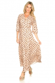 Dante 6 |  Printed maxi dress Poetic | brown  | Picture 3