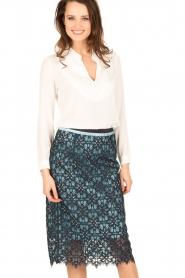 Tara Jarmon |  Lace skirt Marine | blue  | Picture 2