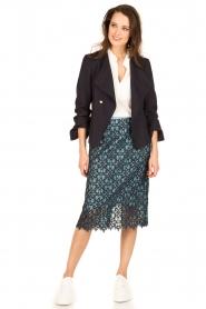 Tara Jarmon |  Lace skirt Marine | blue  | Picture 3