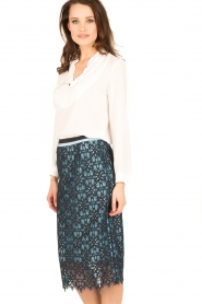 Tara Jarmon |  Lace skirt Marine | blue  | Picture 4