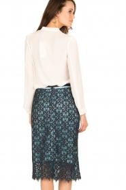 Tara Jarmon |  Lace skirt Marine | blue  | Picture 5