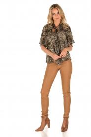 IKKS | Zijden pussybow blouse Lena | print  | Afbeelding 3