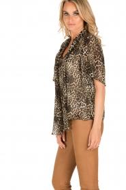 IKKS | Zijden pussybow blouse Lena | print  | Afbeelding 4