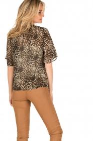 IKKS | Zijden pussybow blouse Lena | print  | Afbeelding 5