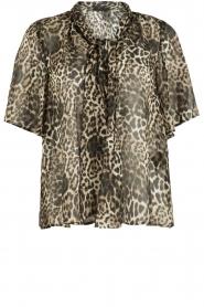 IKKS | Zijden pussybow blouse Lena | print  | Afbeelding 1