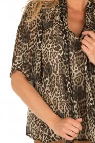 IKKS | Zijden pussybow blouse Lena | print  | Afbeelding 6