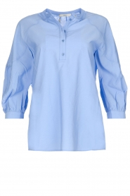 Sessun |  Classic loose blouse Emiko | blue   | Picture 1