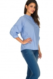 Sessun |  Classic loose blouse Emiko | blue   | Picture 5