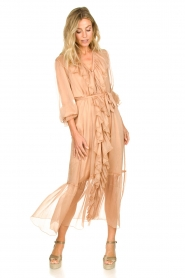 Dante 6 |  Ruffle maxi dress Royalty | nude  | Picture 2