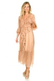 Dante 6 |  Ruffle maxi dress Royalty | nude  | Picture 3
