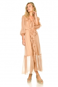 Dante 6 |  Ruffle maxi dress Royalty | nude  | Picture 4