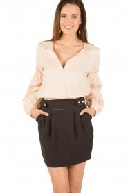 Tara Jarmon | Puffer sleeves blouse Leala | naturel  | Afbeelding 2