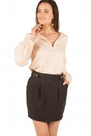 Tara Jarmon | Puffer sleeves blouse Leala | naturel  | Afbeelding 4