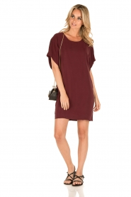 IKKS |  Silk dress Hanna | bordeaux  | Picture 3