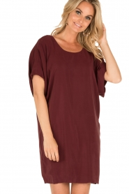 IKKS |  Silk dress Hanna | bordeaux  | Picture 4