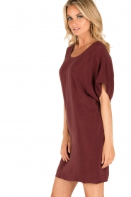 IKKS |  Silk dress Hanna | bordeaux  | Picture 2